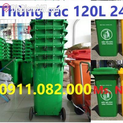 Phân phối sỉ lẻ thùng rác nhựa, thùng rác 120L 240L giá rẻ Tại quận bình chánh
